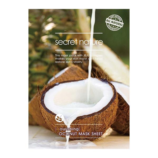 Тканевая маска для лица с кокосом Secret Nature Coconut Mask Sheet