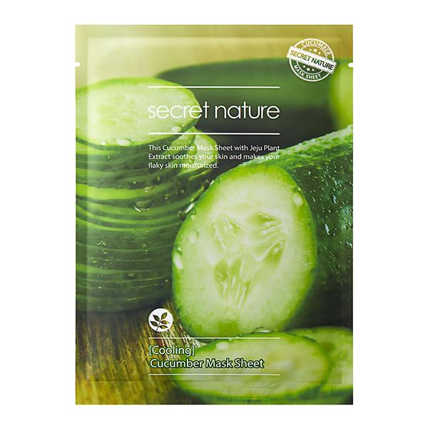Тканевая маска для лица с огурцом Secret Nature Cucumber Mask Sheet