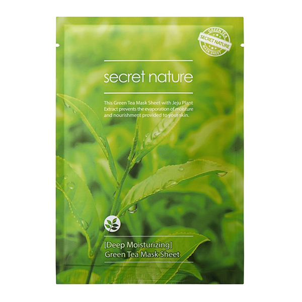 Тканевая маска для лица с зелёным чаем Secret Nature Green Tea Mask Sheet
