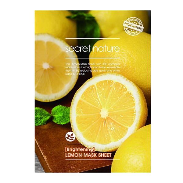 Тканевая маска для лица с лимоном Secret Nature Lemon Mask Sheet
