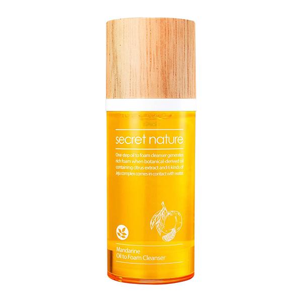 Очищающая пенка-масло с мандарином Secret Nature Mandarine Oil to Foam Cleanser