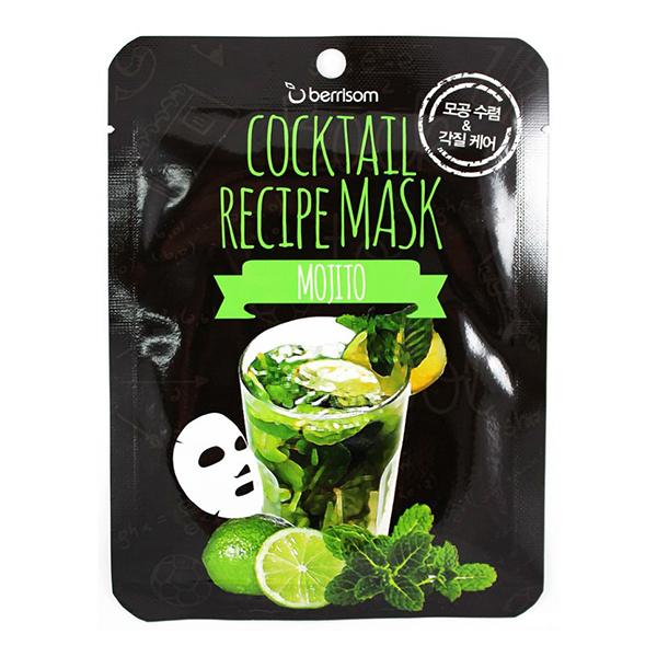 Тканевая маска с лаймом Berrisom Mojito Cocktail Recipe Mask