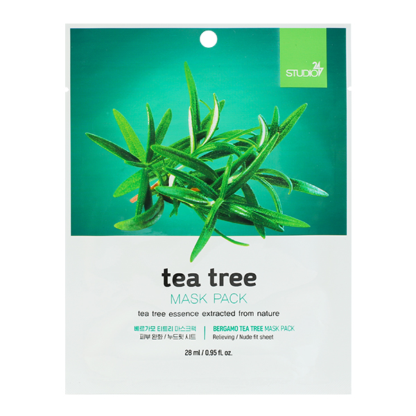 Тканевая маска с чайным деревом Bergamo Tea Tree Mask Pack ...