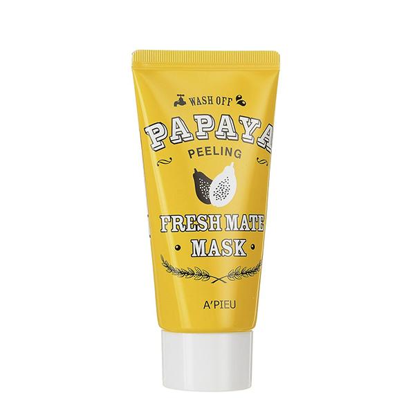 Пилинг-маска с энзимами папайи A'PIEU Wash Off Papaya Peeling Fresh Mate Mask