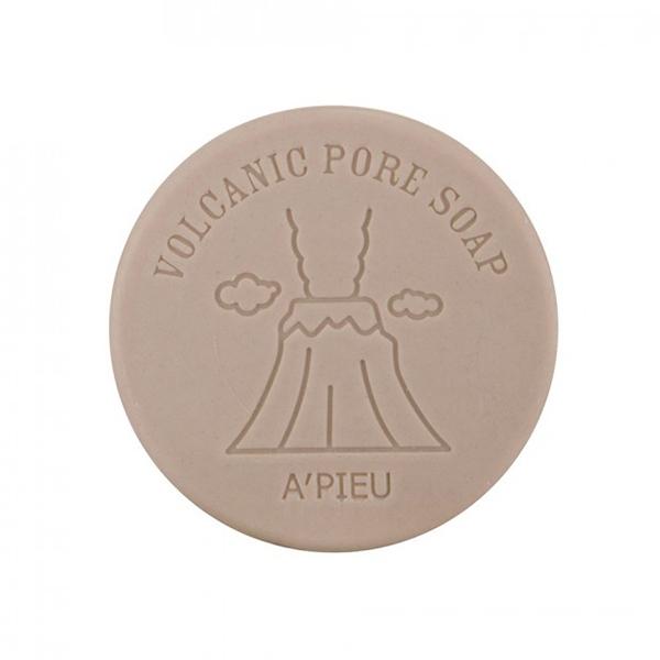 Очищающее мыло с вулканическим пеплом A'Pieu Volcanic Pore Soap