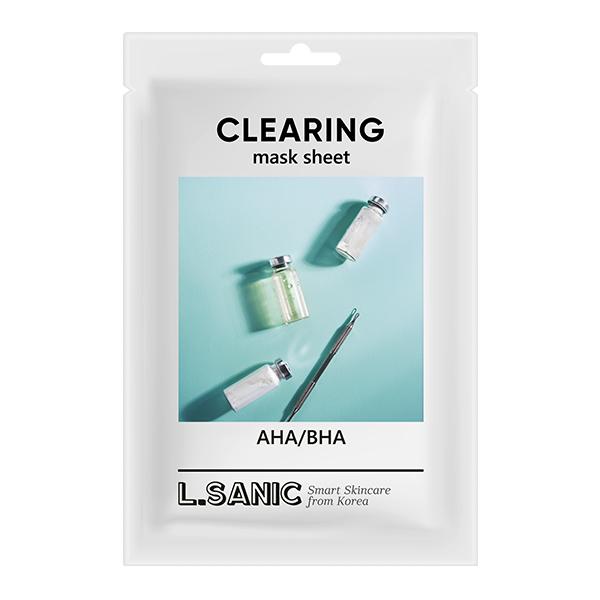 Тканевая маска с кислотами L.Sanic AHA/BHA Clearing Mask Sheet