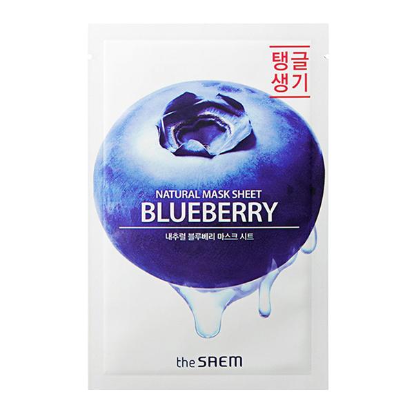Тканевая маска с черникой The Saem Natural Mask Sheet Blueberry