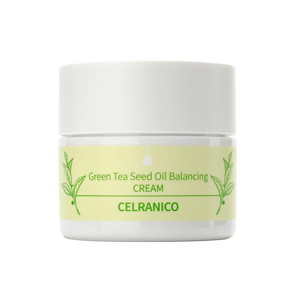 Антиоксидантный крем с зелёным чаем CELRANICO Green Tea Seed Oil Balancing Cream