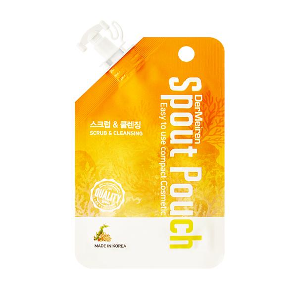 Очищающая пенка-скраб для жирной кожи DerMeiren Scrub Powder And Deep Cleansing Foam