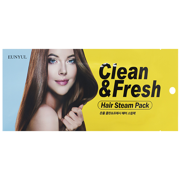 Восстанавливающая маска-шапочка для повреждённых волос EUNYUL Clean & Fresh Hair Steam Pack