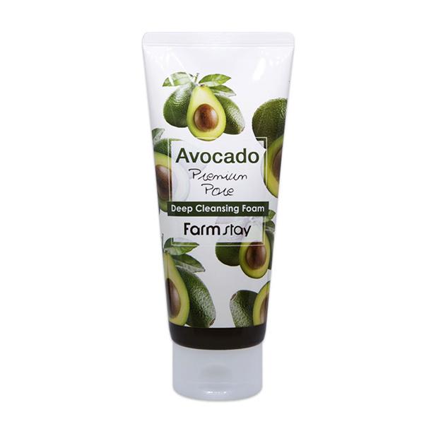 Пенка для умывания с экстрактом авокадо FarmStay Avocado Deep Cleansing Foam
