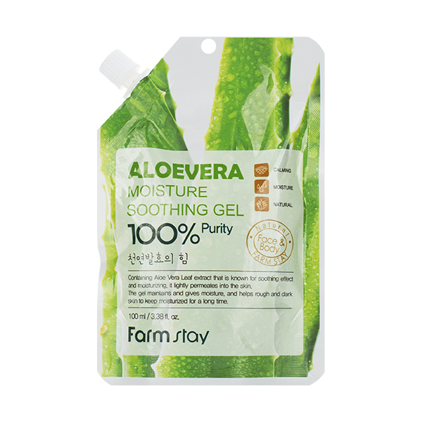 Универсальный алоэ-гель FarmStay Moisture Soothing Gel Aloevera