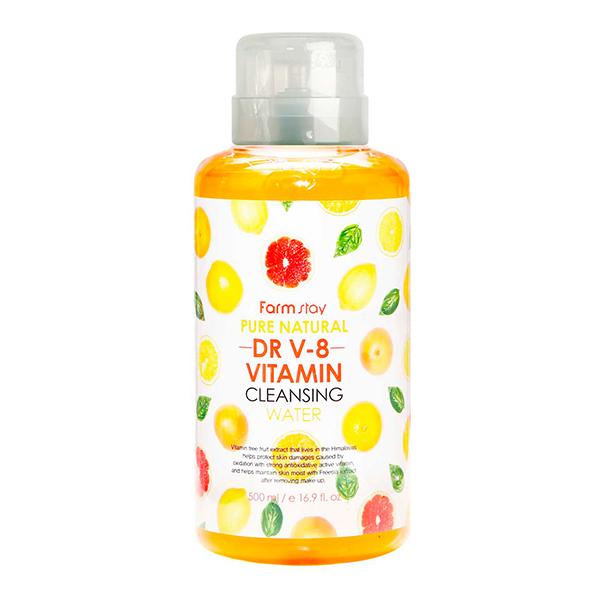 Мицеллярная вода для тусклой кожи FarmStay Pure Natural Dr V-8 Vitamin Cleansing Water