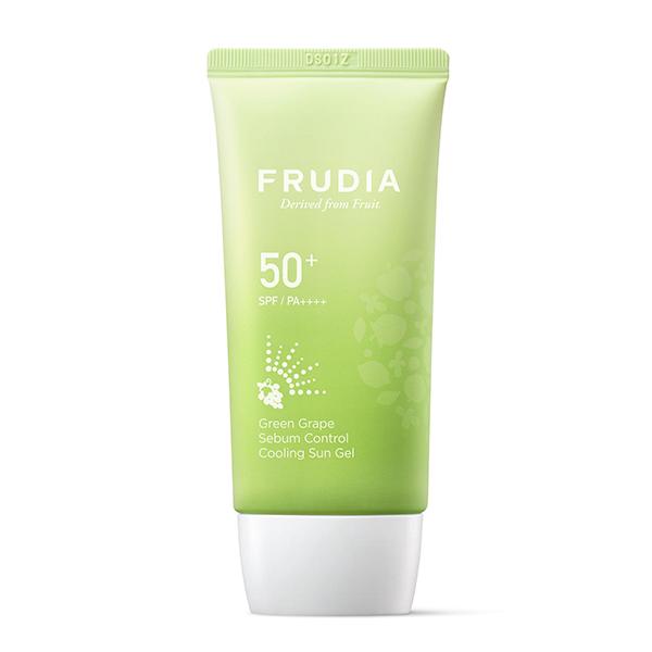 Лёгкий солнцезащитный гель с экстрактом винограда SPF50+ PA++++ Frudia Green Grape Sebum Control Cooling Sun Gel SPF50+ PA++++