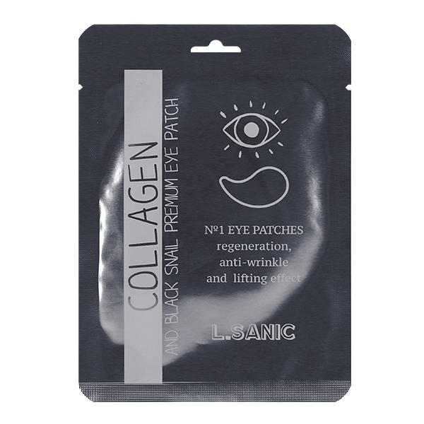 Омолаживающие патчи для глаз с коллагеном и муцином чёрной улитки (1 пара) L.Sanic Collagen Аnd Black Snail Premium Eye Patch (Single)
