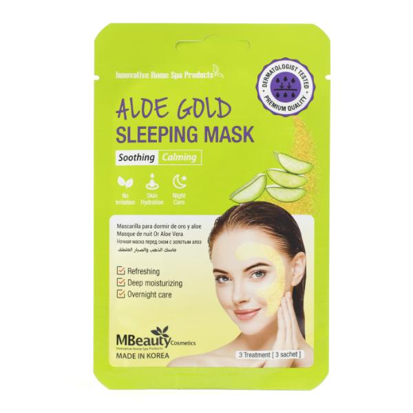 Восстанавливающая ночная маска с алоэ MBeauty Aloe Gold Sleeping Mask