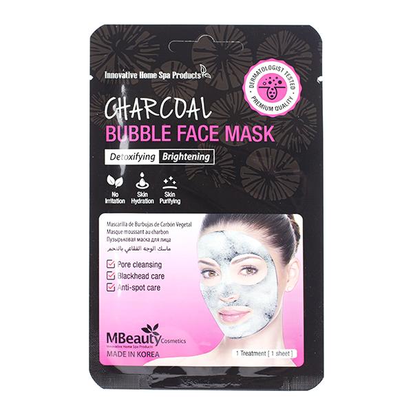 Очищающая кислородная маска с углём MBeauty Charcoal Bubble Face Mask