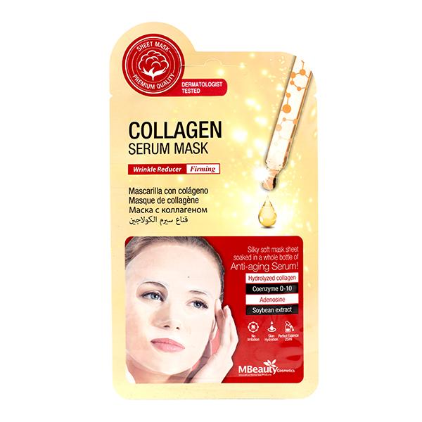 Увлажняющая тканевая маска с коллагеном  MBeauty Collagen Serum Mask
