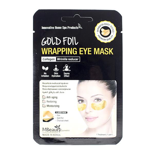 Фольгированные патчи для глаз с золотом (1 пара) MBeauty Gold Foil Wrapping Eye Mask