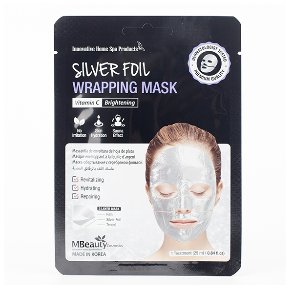 Фольгированная маска с серебром  MBeauty Silver Foil Wrapping Mask