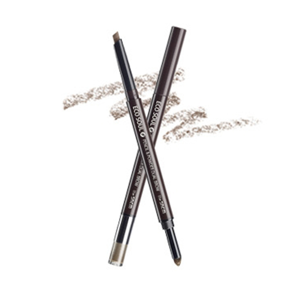 Карандаш-пудра для бровей The Saem Eco Soul Pencil & Powder Dual Brow №04 Medium Brown