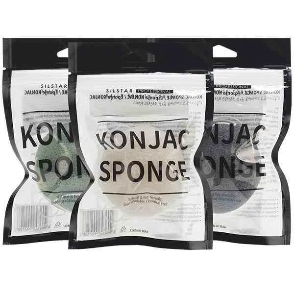 Натуральный конняку спонж SILSTAR Professional Konjac Sponge
