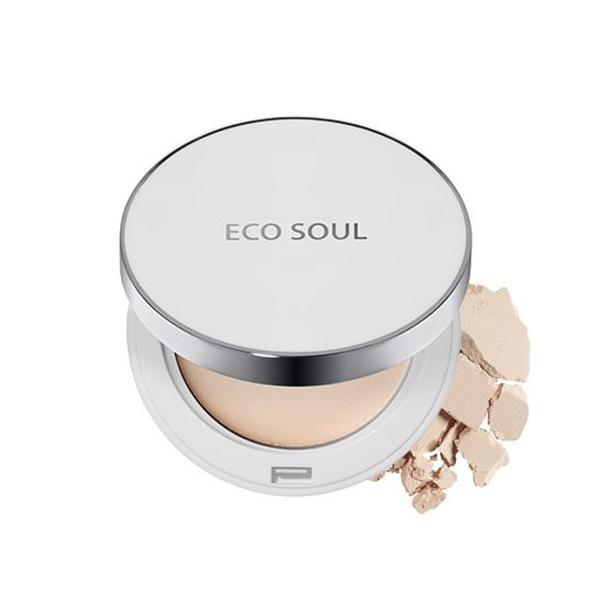 Солнцезащитная компактная пудра SPF50+ The Saem Eco Soul UV Sun Pact №21 Light Beige
