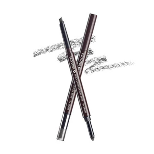 Карандаш-пудра для бровей The Saem Eco Soul Pencil & Powder Dual Brow №03 Deep Gray