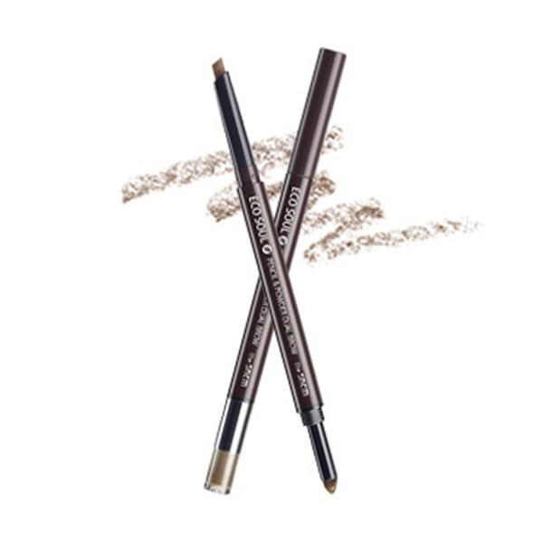 Карандаш-пудра для бровей The Saem Eco Soul Pencil & Powder Dual Brow №01 Natural Brown