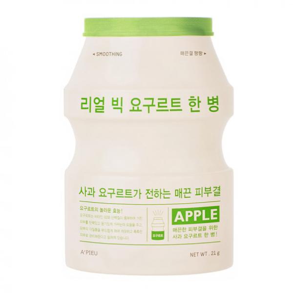 Тканевая маска с яблоком A'Pieu Real Big Yogurt Bottle Apple