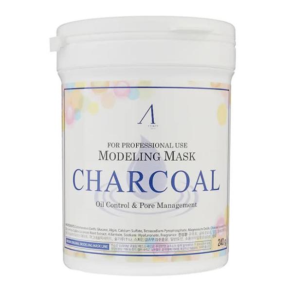 Альгинатная маска с углём для проблемной кожи Anskin Charcoal Modeling Mask