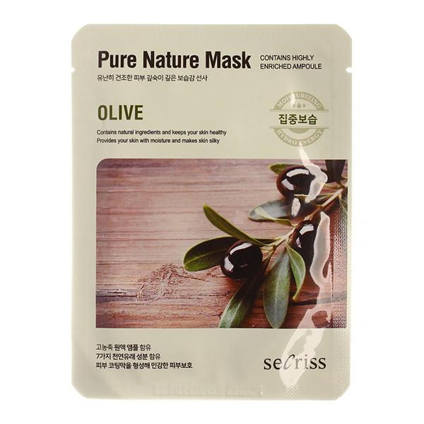 Тканевая маска с оливой Anskin Secriss Pure Nature Olive Mask Pack
