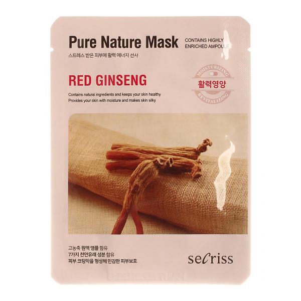 Тканевая маска с женьшенем Anskin Secriss Pure Nature Red Ginseng Mask Pack