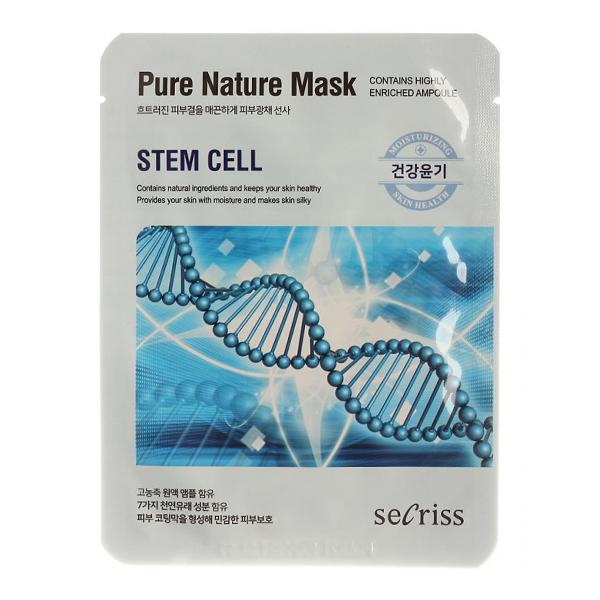 Тканевая маска со стволовыми клетками Anskin Secriss Pure Nature Stem Cell Mask Pack