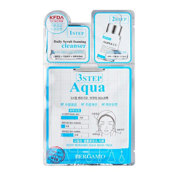 Увлажняющая трехэтапная маска для лица Bergamo 3 Step Mask Pack Aqua