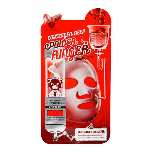 Тканевая маска с коллагеном Elizavecca Collagen Deep Power Ringer Mask Pack