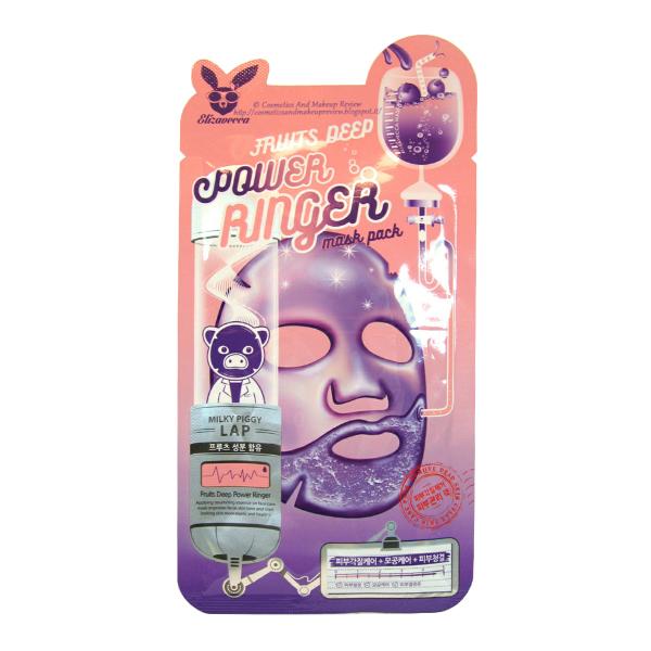 Тканевая маска с экстрактами фруктов Elizavecca Fruits Deep Power Ringer Mask Pack