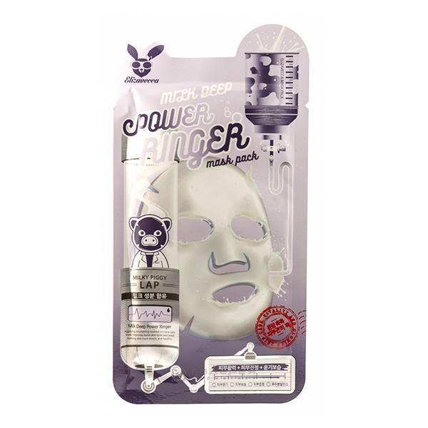 Тканевая маска с молочными протеинами Elizavecca Milk Deep Power Ringer Mask Pack