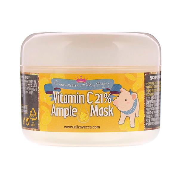 Маска для сияния кожи с витамином С Elizavecca Milky Piggy Mask Vitamin C 21% Ample