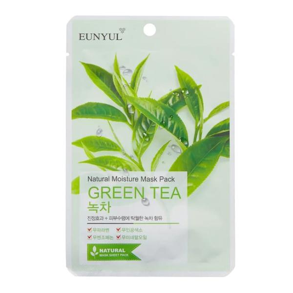 Тканевая маска с зелёным чаем Eunyul Natural Moisture Mask Pack Green Tea