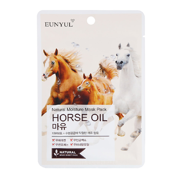 Тканевая маска c лошадиным маслом  Eunyul Natural Moisture Mask Pack Horse Oil
