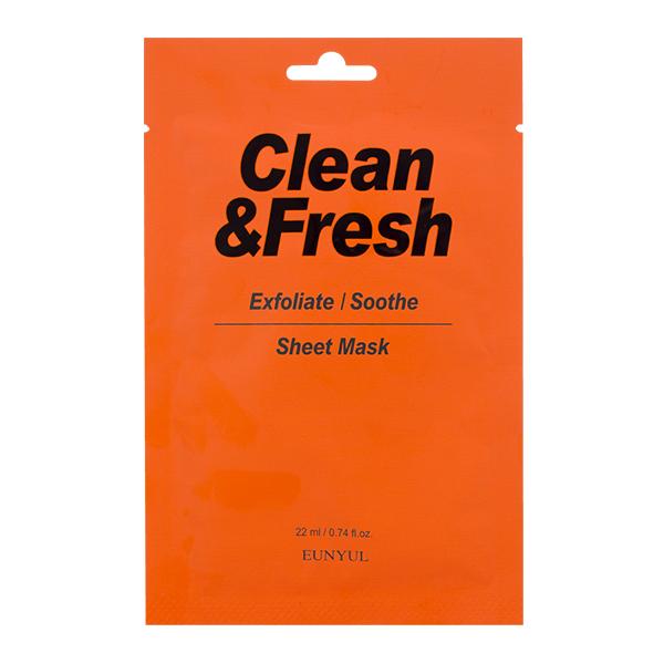 "Тканевая маска ""Exfoliate/Soothe"" EUNYUL Clean&Fresh Exfoliate/Soothe Sheet Mask"