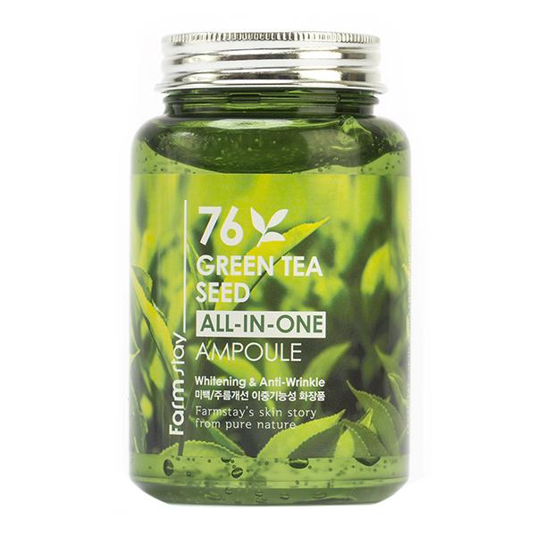 Ампульная сыворотка с семенами зеленого чая FarmStay 76 Green Tea All-In One Ampoule