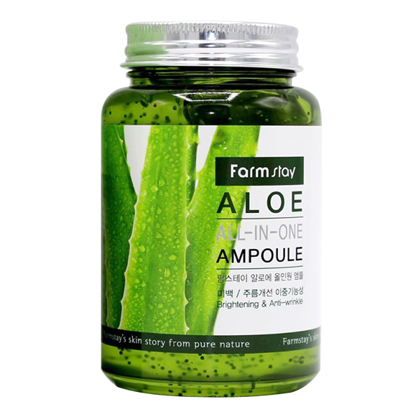 Ампульная сыворотка для лица с экстрактом алоэ FarmStay Aloe All-In One Ampoule