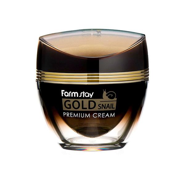 Антивозрастной крем с золотом и муцином улитки  FarmStay Gold Snail Premium Cream