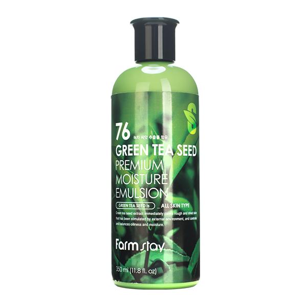 Эмульсия с зелёным чаем FarmStay Green Tea Seed Premium Moisture Emulsion