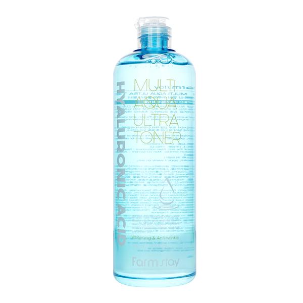 Увлажняющий тонер с гиалуроновой кислотой  FarmStay Hyaluronic Acid Multi Aqua Ultra Toner