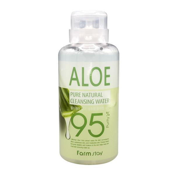Мицеллярная вода с алоэ  FarmStay Aloe Pure Cleansing Water