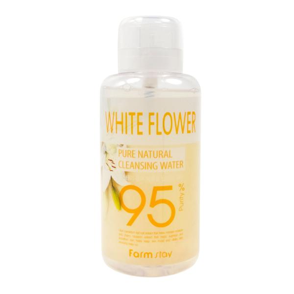 Мицеллярная вода с экстрактом белых цветов  FarmStay White Flower Pure Cleansing Water