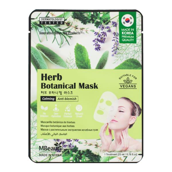 Успокаивающая тканевая маска для проблемной кожи MBeauty Herb Calming & Anti-blemish Sheet Mask